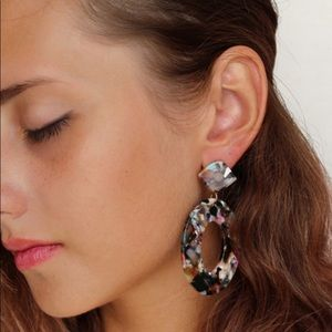 Jewelry - NEW Acrylic Oval Dangle Earrings